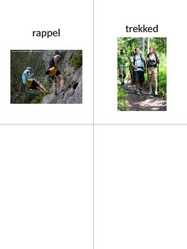 Cliffhanger Vocabulary