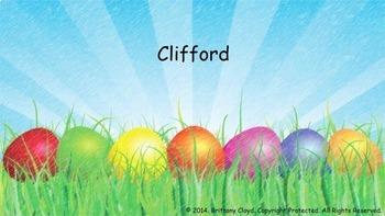 Clifford Big Red Dog Big Egg Hunt Task Flash Literacy Reading Cards EASTER