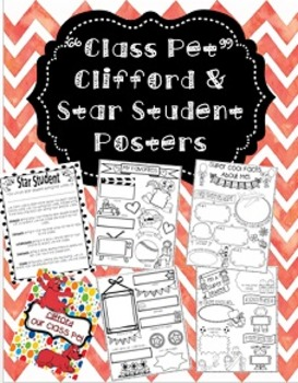 """Clifford The Big Red Dog """"Class Pet"""" and Star Student Posters"""