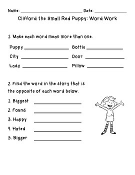 Clifford Language Unit: Reading, Writing and Word Work for Clifford Books