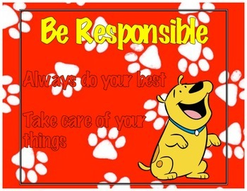 Clifford Themed Classroom Rules