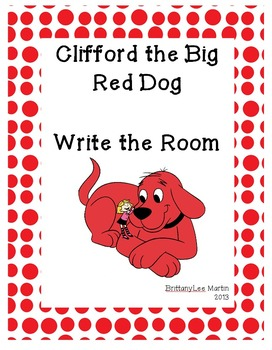 Clifford Write the Room- Reading Street Sight Words KG Unit 1