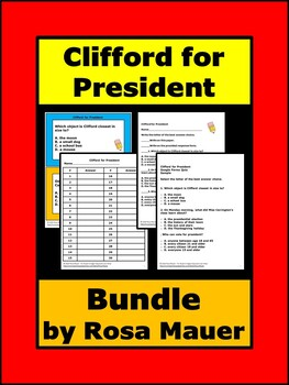 Clifford The Big Red Dog Comprehension Worksheets Teaching Resources Tpt