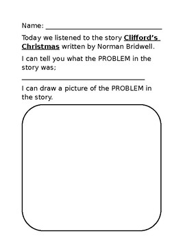 Clifford's Christmas Worksheet
