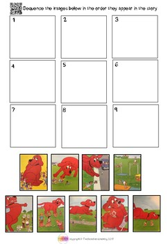Clifford's Sports Day QR Code Comprehension Pack