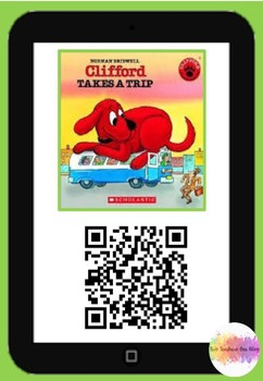 Clifford takes a trip QR code comprehension pack
