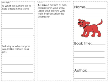 Clifford the Big Red Dog Book Series Trifold Activity