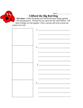Clifford the Big Red Dog Comprehension