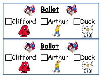 Clifford/Duck/Arthur for President Ballot