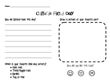 Clifford's Field Day Worksheet