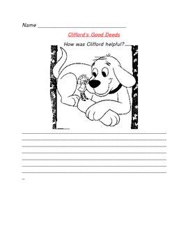 Clifford S Good Deeds By Marlena Wims Teachers Pay Teachers