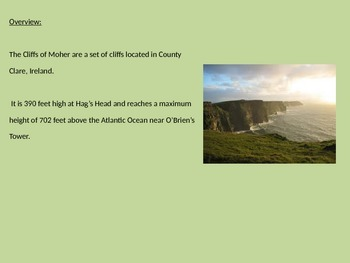 Cliffs of Moher - Ireland Power Point - History Facts Information Pictures