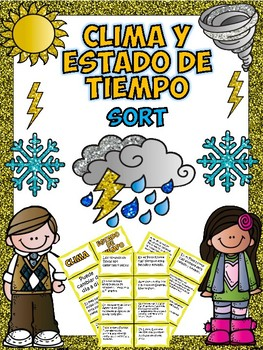 Clima y Estado de Tiempo -Climate and Weather Sort