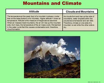 Climate -  A Fourth Grade PowerPoint Introduction
