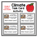 Climate Activity, Grade 2 Social Studies, Ontario Curriculum