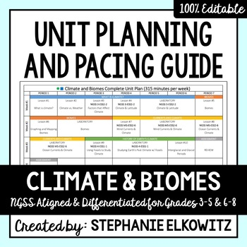 Climate & Biomes Unit Planning Guide