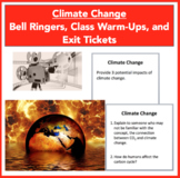 Climate Change - Bell Ringers, Class Warm-Ups, and Exit Tickets