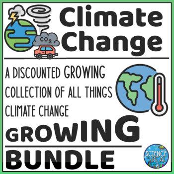 Climate Change Bundle! PPT, Notes, CER, Reading & Qs, WebQuest, Game, and More!