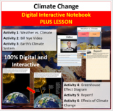 Climate Change - Digital Interactive Notebook + Lesson