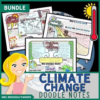 Climate Change Science Doodle Note Unit Bundle