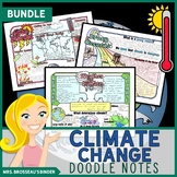 Climate Change Science Doodle Note Unit Bundle