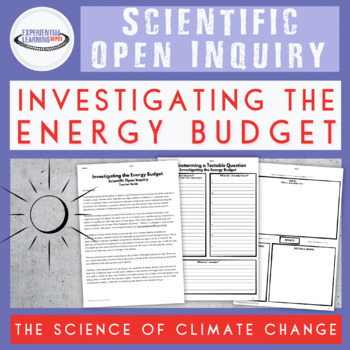 Climate Change: Energy Budget Scientific Inquiry Lab