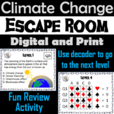 Climate Change Activity Escape Room: Global Warming and the Greenhouse Effect