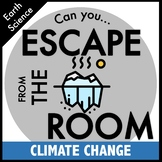 Climate Change and Global Warming Escape Room - distance learning