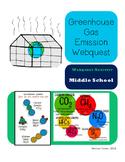 Climate Change Greenhouse Gas Emission Webquest for Distan