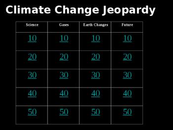 Climate Change Jeopardy