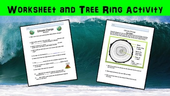 Climate Change Lesson with Power Point, Worksheet, and Tree Ring Activity