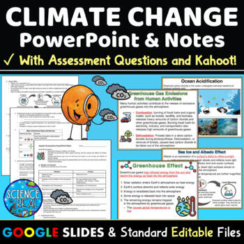 Climate Change PowerPoint, Student Notes, and Kahoot! Bundle!