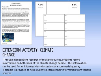 Climate Change Research & Discussion Foldable