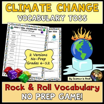Climate Change Rock & Roll Vocabulary Toss Game