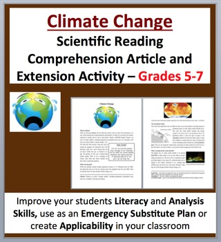 Climate Change - Science Reading Article - Grades 5-7