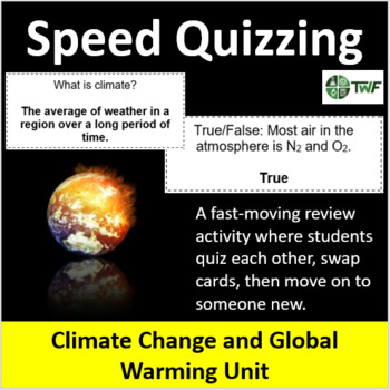 Climate Change and Global Warming - Speed Quizzing