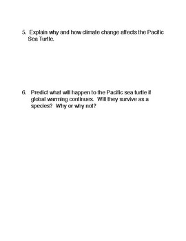 Climate Change and the Female Pacific Sea Turtle