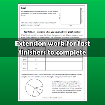Climate Change Worksheet - graphing activity