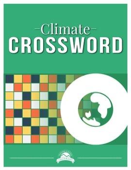 Climate Crossword Puzzle {Editable}
