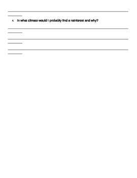 Climate Exit ticket