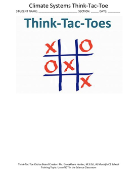 Climate Interactive  Think Tac Toe