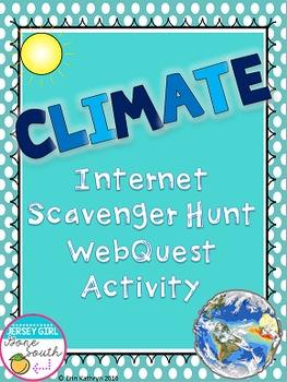 Climate Internet Scavenger Hunt WebQuest Activity
