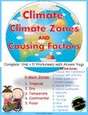 Climate : Introduction - Climate Zones - Factors affecting Climate