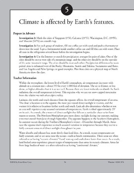 Climate Is Affected by Earth's Features