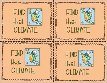Climate Matching Game