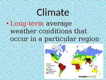 Climate PowerPoint EDITABLE