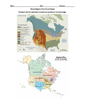 Climate Regions Map