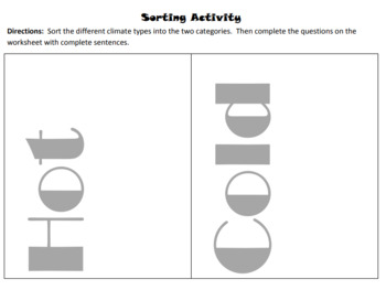 Climate Sorting Activity