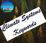 Climate Systems Keywords with Word Wall Cutouts (with & wi
