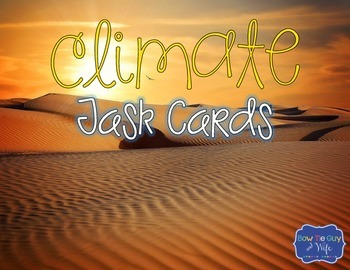 Climate Task Cards